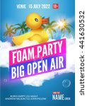 foam party summer open air club.... | Shutterstock .eps vector #441630532