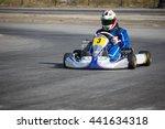 karting   driver in helmet on... | Shutterstock . vector #441634318