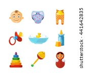 vector toys icons set isolate...