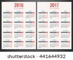 calendar for 2016 and 2017....   Shutterstock .eps vector #441644932
