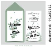 wedding invitation card with... | Shutterstock .eps vector #441653932