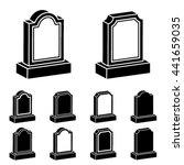 3d tombstone black symbol vector | Shutterstock .eps vector #441659035
