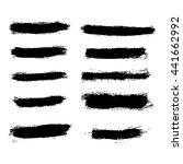 different brush strokes on... | Shutterstock .eps vector #441662992