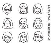 face character women. | Shutterstock .eps vector #441672796