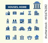 houses  home icons | Shutterstock .eps vector #441676282