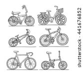 bicycle set  doodle sketch...   Shutterstock .eps vector #441676852