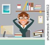 stressed businesswoman in...   Shutterstock .eps vector #441680212