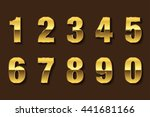 vector golden numbers. set of... | Shutterstock .eps vector #441681166