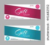 gift voucher template | Shutterstock .eps vector #441682552