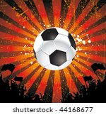 football fans crowd and the ball   Shutterstock .eps vector #44168677