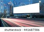 blank billboard on the highway... | Shutterstock . vector #441687586