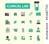 clinical lab icons | Shutterstock .eps vector #441687742