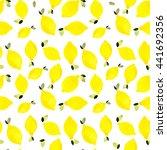 watercolor seamless lemon... | Shutterstock . vector #441692356
