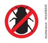 sign prohibiting bark beetle.... | Shutterstock .eps vector #441698545
