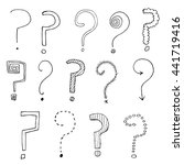 hand drawn doodle  question... | Shutterstock . vector #441719416
