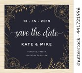 save the date  wedding... | Shutterstock .eps vector #441721996