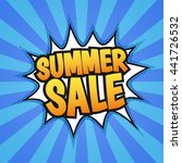 summer sale poster. pop art ... | Shutterstock .eps vector #441726532