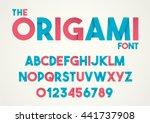 vector of paper folding alphabet   Shutterstock .eps vector #441737908