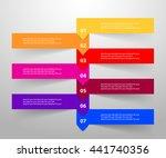 vector lines arrows infographic.... | Shutterstock .eps vector #441740356