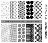 collection of black and white... | Shutterstock .eps vector #441742612