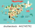 vector illustration of north... | Shutterstock .eps vector #441745792