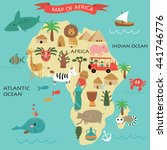 vector illustration of africa... | Shutterstock .eps vector #441746776