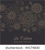 floral background | Shutterstock .eps vector #44174830
