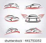 cars abstract set. vector | Shutterstock .eps vector #441753352