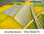 Aerial View To Solar Power...