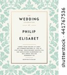 vintage wedding invitation... | Shutterstock .eps vector #441767536