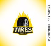 vector template of tires shop... | Shutterstock .eps vector #441768436