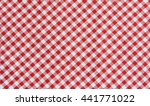Red And White Tablecloth...