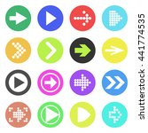 arrow sign icon set. flat style.... | Shutterstock .eps vector #441774535
