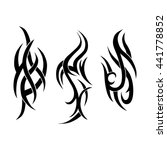 vector set of three tribal... | Shutterstock .eps vector #441778852