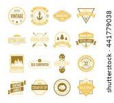 set of vector logotypes... | Shutterstock .eps vector #441779038