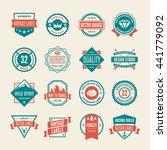 set of vector logotypes... | Shutterstock .eps vector #441779092