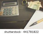 clock calculator money | Shutterstock . vector #441781822