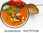 spanish gazpacho  cold and... | Shutterstock . vector #441797428