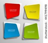 design shape origami vector... | Shutterstock .eps vector #441799498