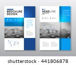 brochure cover design layout... | Shutterstock .eps vector #441806878