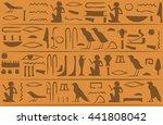 egyptian hieroglyphs seamless... | Shutterstock .eps vector #441808042