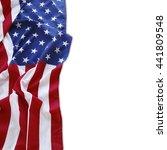 american flag on plain...   Shutterstock . vector #441809548