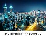 Fantastic View Of A Big City A...