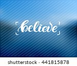 trendy lettering poster. hand... | Shutterstock .eps vector #441815878