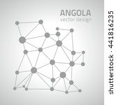 angola grey vector polygonal map | Shutterstock .eps vector #441816235