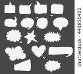 vector hand drawn speech... | Shutterstock .eps vector #441830422