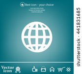 vector globe icons | Shutterstock .eps vector #441831685