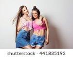 two beautiful young women... | Shutterstock . vector #441835192
