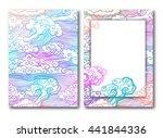 sky clouds background. vector...   Shutterstock .eps vector #441844336