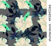 seamless floral pattern with... | Shutterstock . vector #441845266